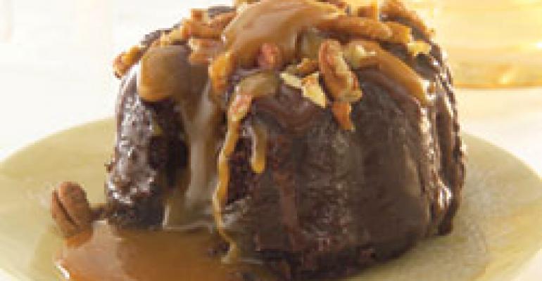 Sweet Street Desserts Turtle Molten Bundt packs rich flavor into individual servings.