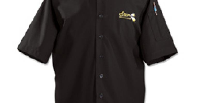 Happy Chef® Black Euro Chef Coat $8.95