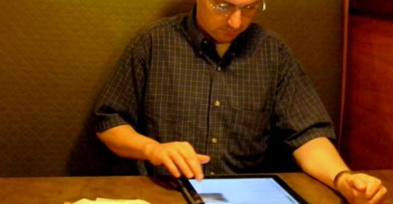 Restaurants playing with iPads