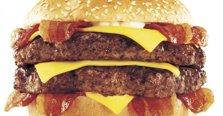 High-calorie menu items pump up sales, buzz for chains