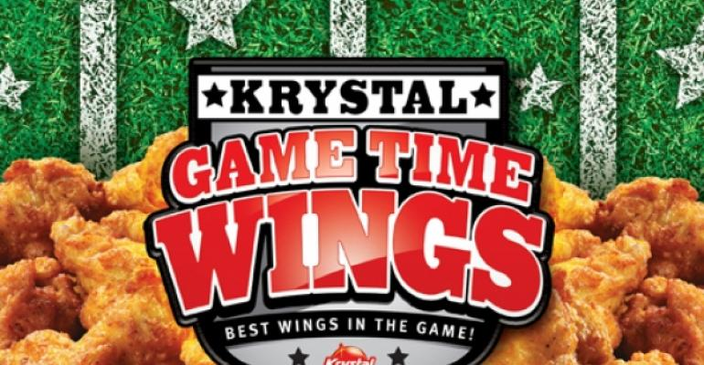 Krystal targets its sports fans with Game Time Wings