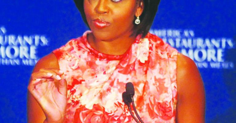 Michelle Obama urges industry to step up efforts in obesity fight