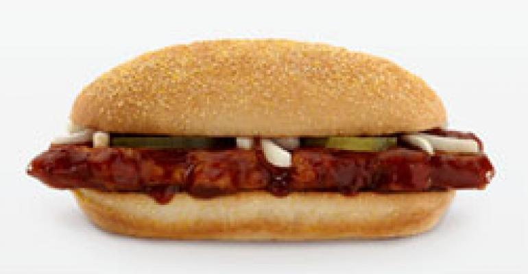 McD's McRib leads return of classic promos