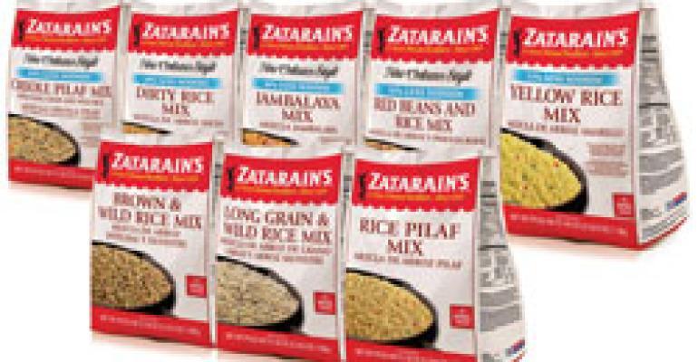 Zatarain's NEW Lower-Sodium Rice Mixes