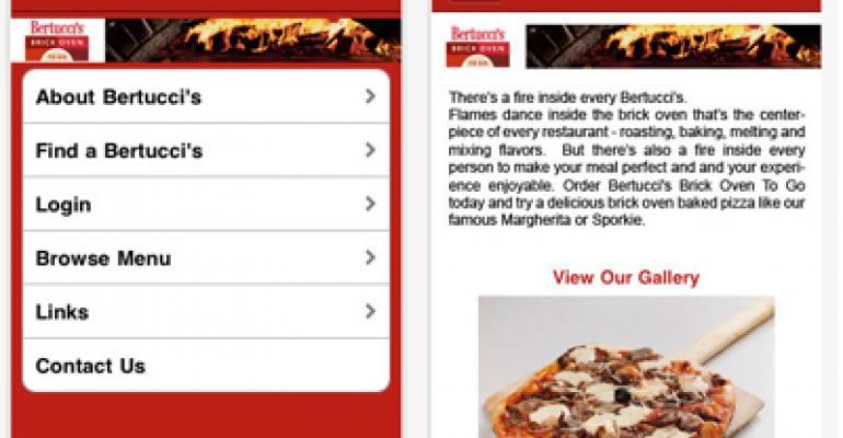 Bertucci's debuts new online ordering channels