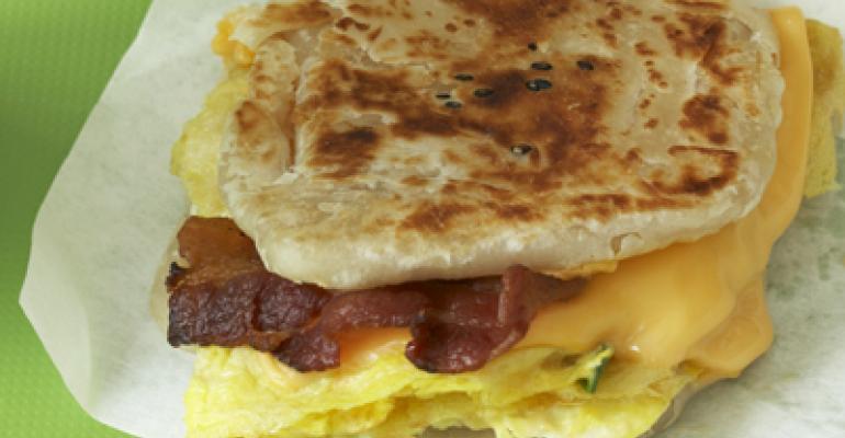 Foumami breakfast sandwich
