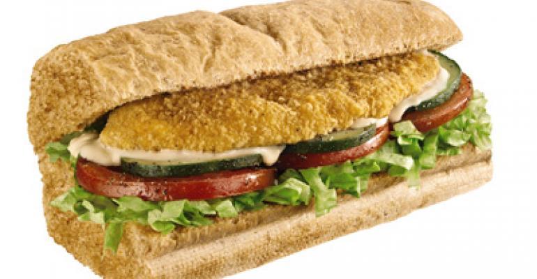 Subway adds baked crispy chicken LTO