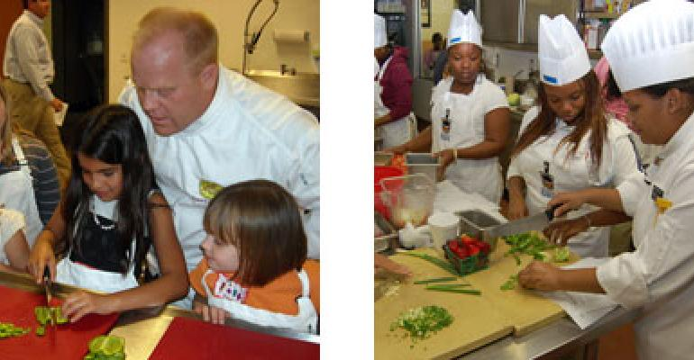 Cooking Matters for chefs and kids
