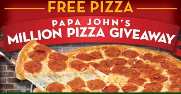 Papa John's giveaway promotes rewards program