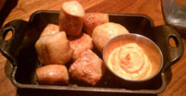 "Cool Plate: Bacon & sea salt pretzel ""nugz"""