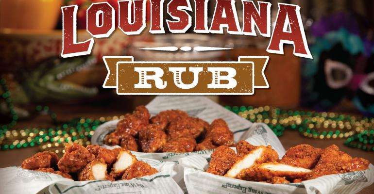 Wingstop rubs on new flavor
