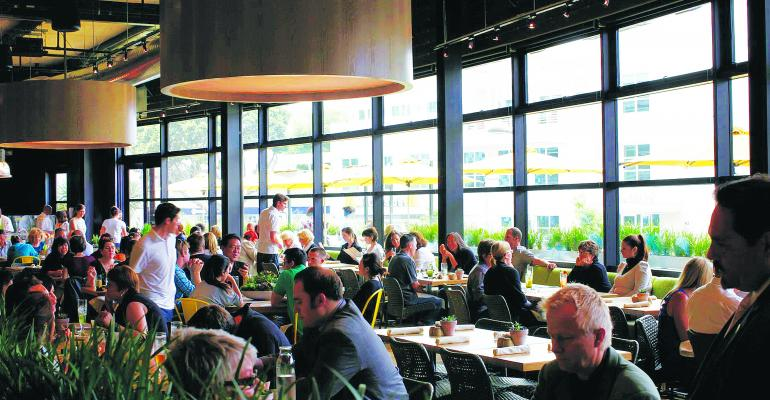 Communal tables promote shared experience