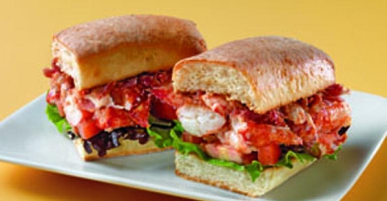 Au Bon Pain lobster sandwich