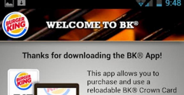 Burger King tests mobile payment app