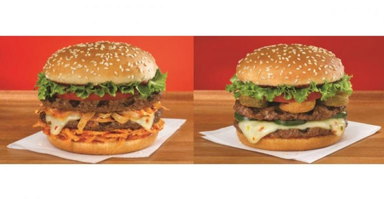 Red Robin Cry Baby and Fiery Ghost burgers