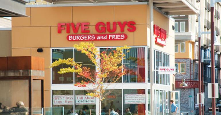 Survey: Consumers name Five Guys favorite burger chain