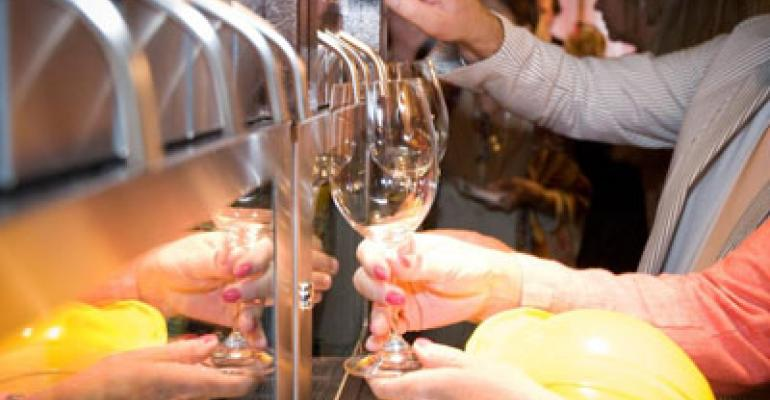 Self-serve wine and beer sells at New Orleans restaurant