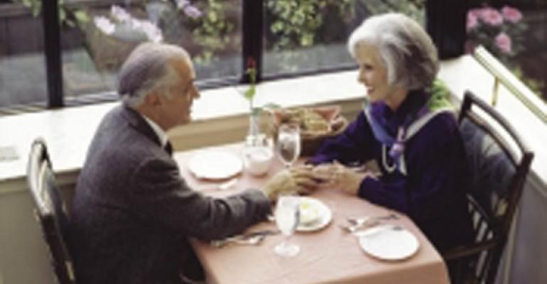 Older couple stock image