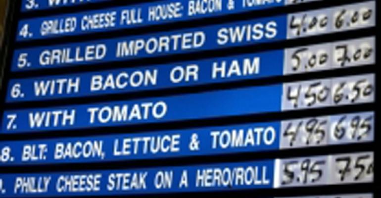 Stock menu images