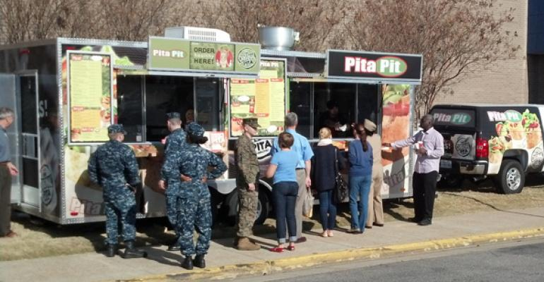 Pita Pit has a food truck at the Navy Base in Norfolk VA