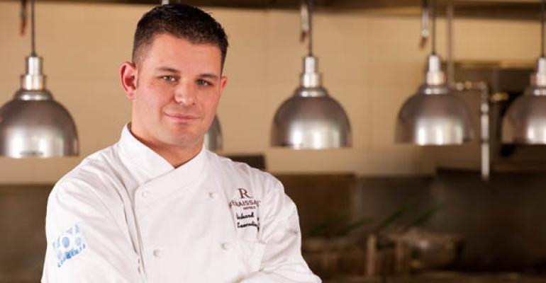 Richard Garcia executive chef of the Renaissance Boston Waterfront Hotel