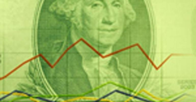 Stock dollar graph