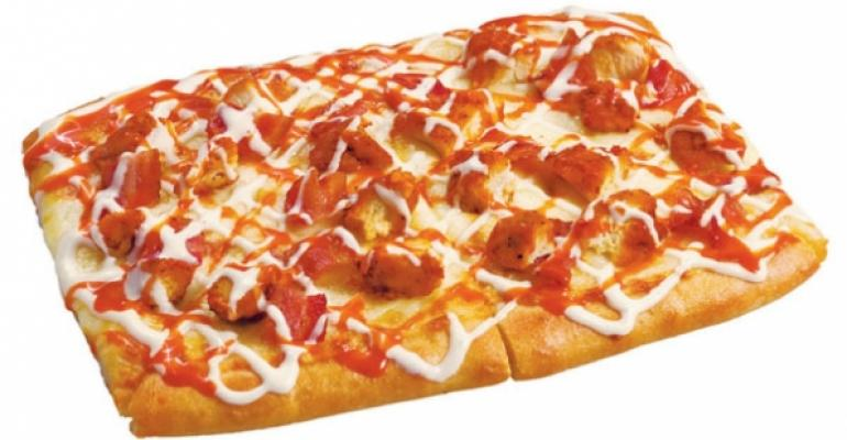 Buffalo Chicken pizza at Toppers Pizza