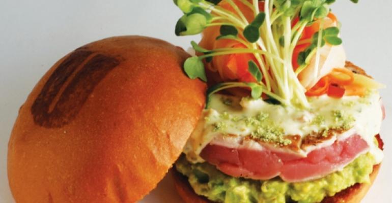 Ahi Tuna Burger at Umami Burger
