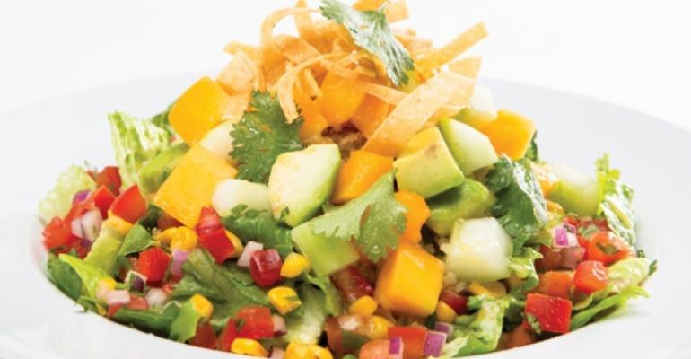 Baja Fiesta Salad at Veggie Grill