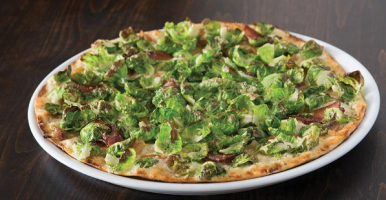 Brussels and bacon pizza