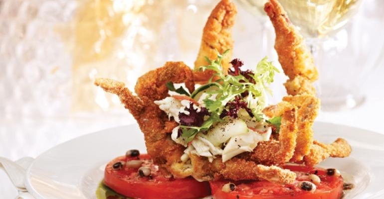 Fried softshell crab at Brennans of Houston