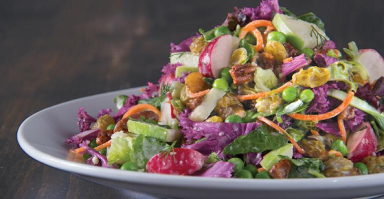 Kale is part of the Spring Market Vegetable Salad that California Pizza Kitchen put on its menu for the season