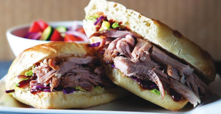 Noodles  Companys Peppery Pork Sandwich Winner for Best MenuLine Extension