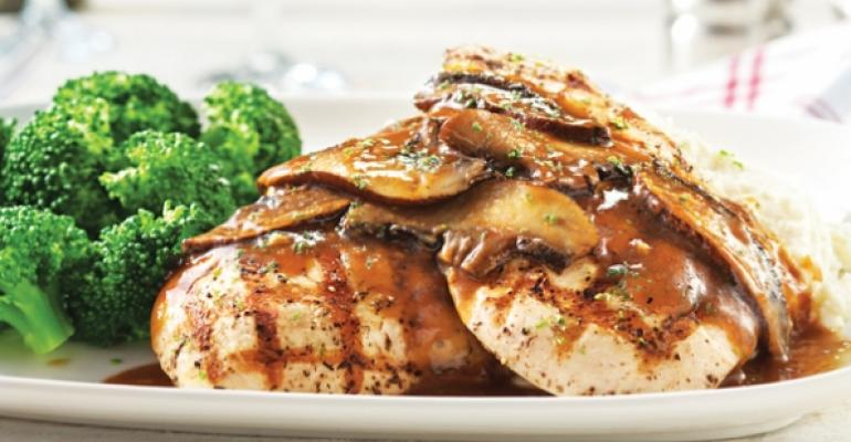 WoodGrilled Chicken with Portobello Wine Sauce from Red Lobsters new menu