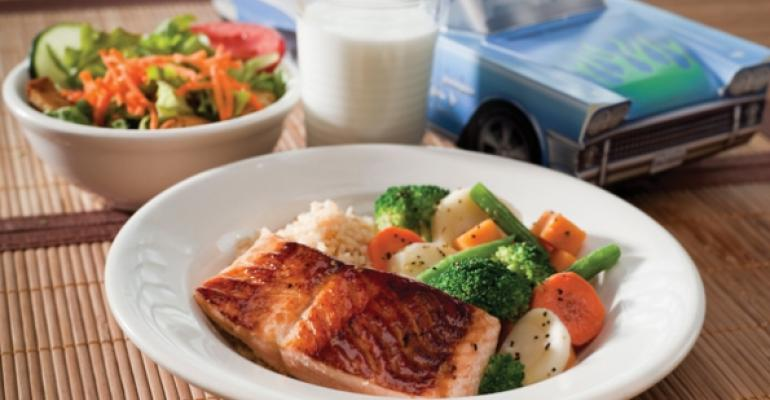 Teriyaki Salmon from Silver Diners kids menu