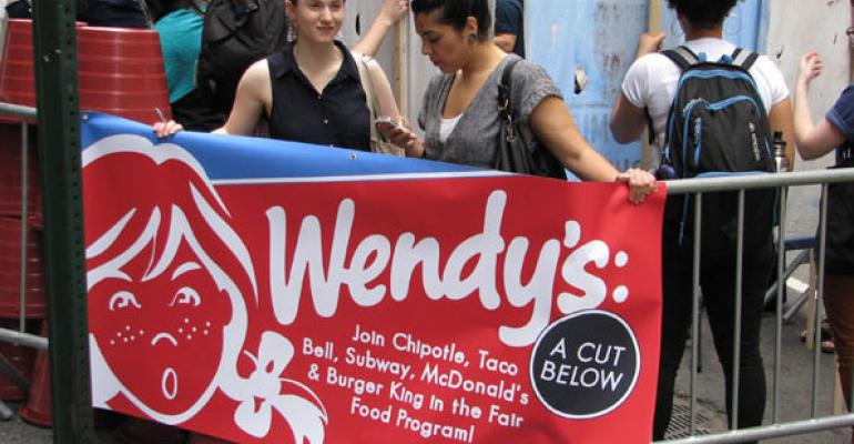 Coalition of Immokalee Workers protestors assailed Wendys for failing to join the Fair Food Program
