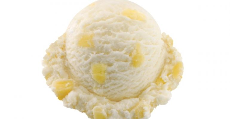 BaskinRobbins Pineapple Coconut ice cream