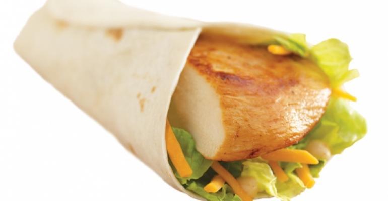 Wendys Grilled Chicken Go Wrap