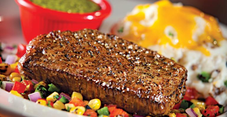 A steak entree from Chilis