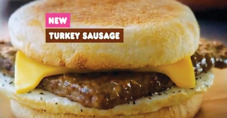 Dunkin Donuts Turkey Sausage sandwich