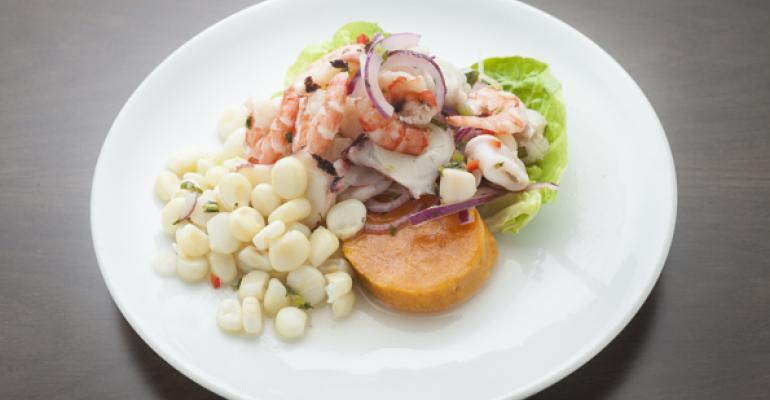 New York City restaurant Luna Sur offers a traditional Peruvian ceviche