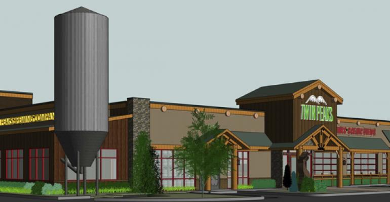 A rendering of Twin Peaks brewery addition