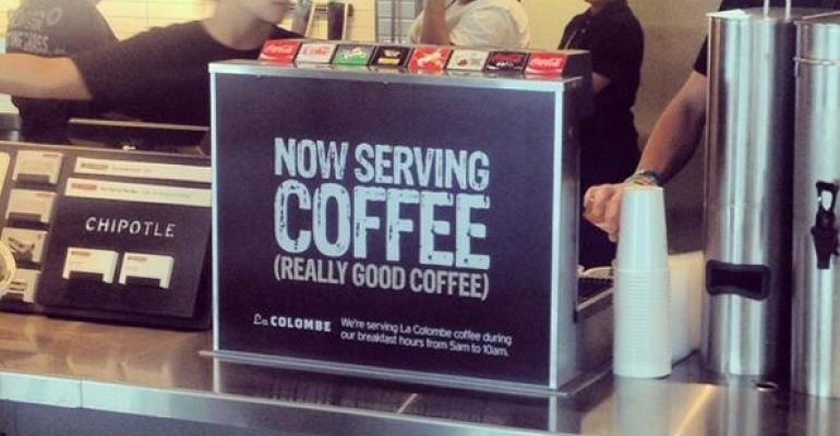 Report: Chipotle tests coffee