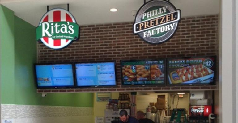 Philly Pretzel Factory, Rita's Italian Ice open co-branded unit