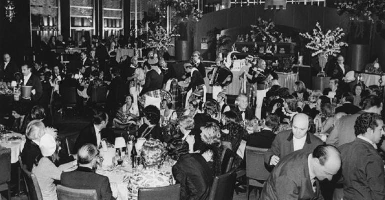 The Rainbow Room in its heyday as a dining destination