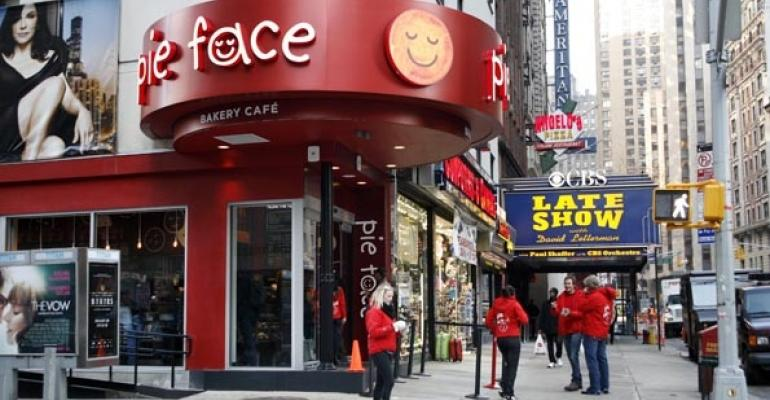 Pie Faces Times Square location in New York City