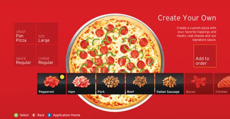 Pizza Huts Xbox app