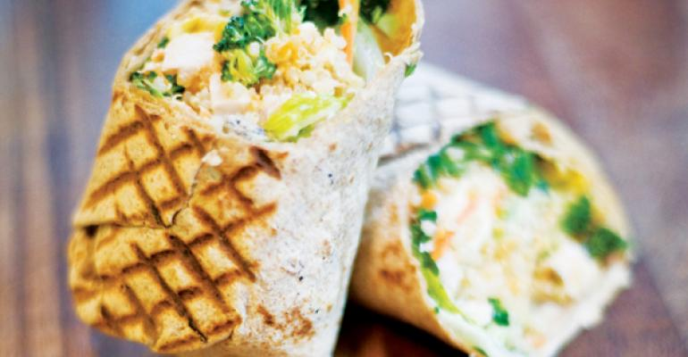 Protein Bars healthful menu items include Barritos its version of burritos