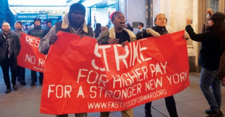 Fast Food Forward protest in New York
