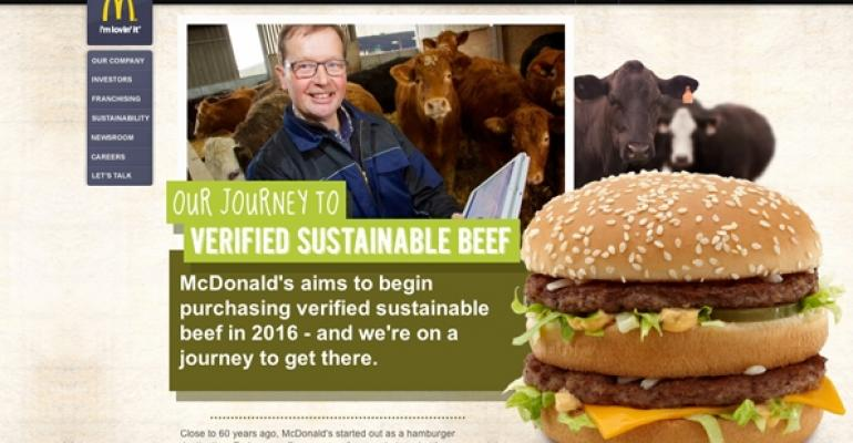 McDonald39s announced its plan to move towards sustainable beef on its new web page